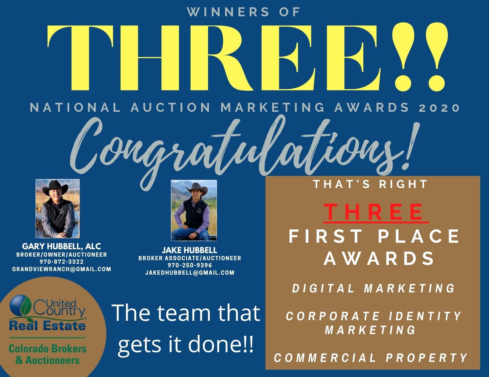 Hotchkiss CO UC Office Wins Three National Auction Marketing Awards