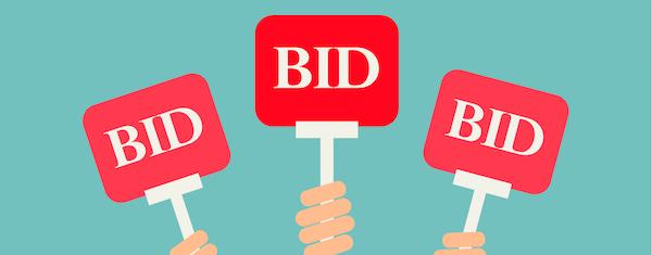 How do I buy items via online auction?