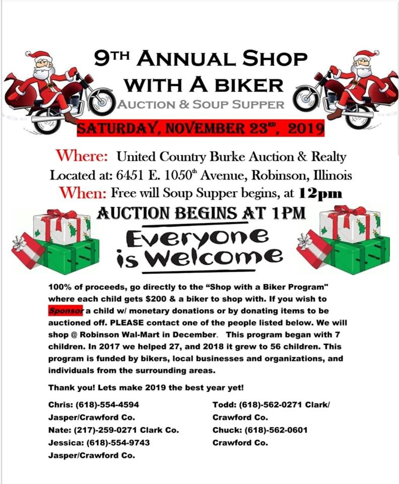 Shop with a Biker Auction
