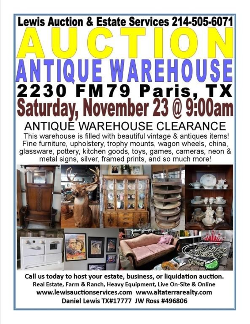 Antique Warehouse Auction!