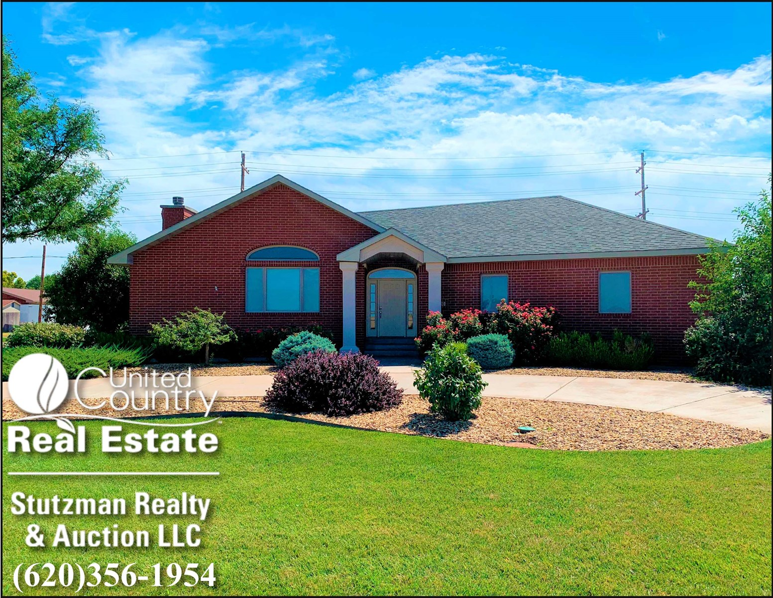 LARGE BRICK HOME SITUATED ON A CORNER LOT FOR SALE IN SW KS