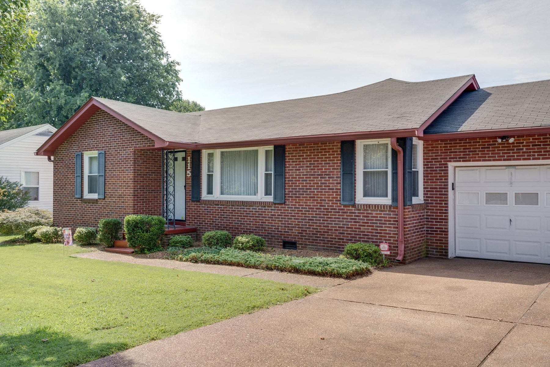 Brick Home in Town in Columbia, Tennessee with Privacy Fence