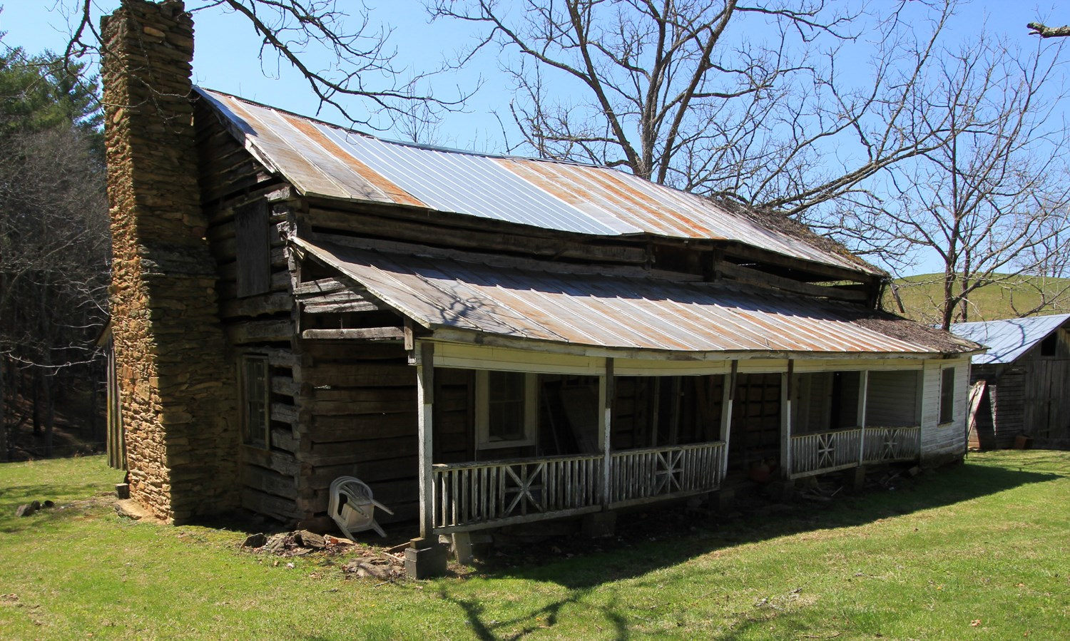 14.7 acres and Historic Log Structure located in Blue Ridge