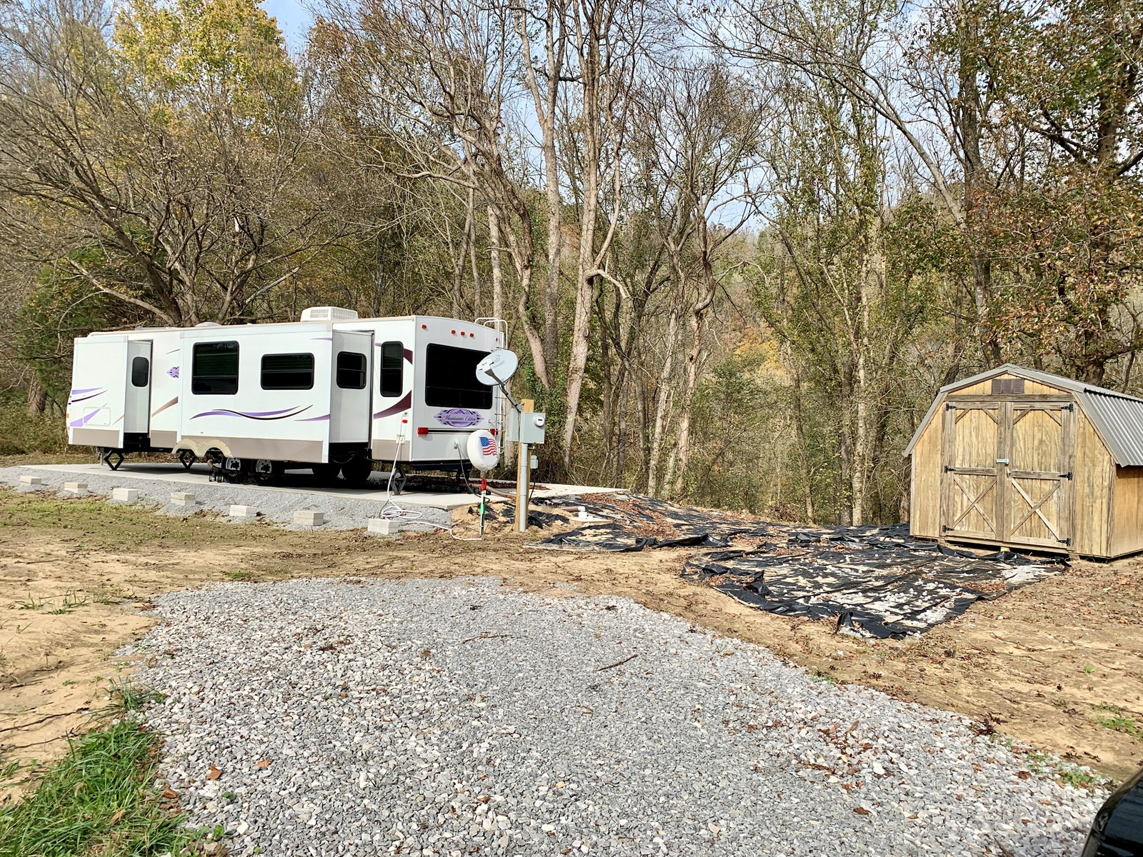 Land for Sale with camper, Burkesville, Kentucky