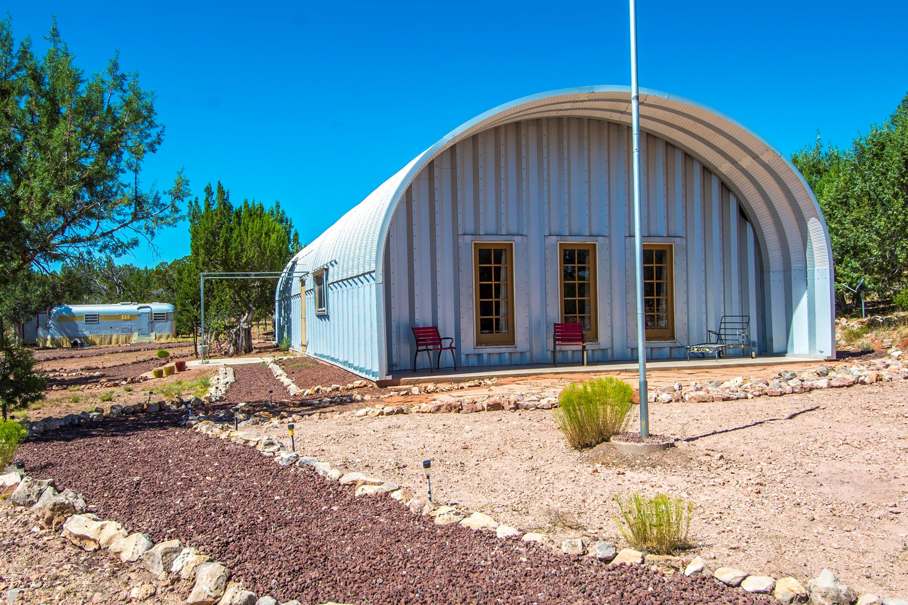 Off Grid home made of Quonset Hut