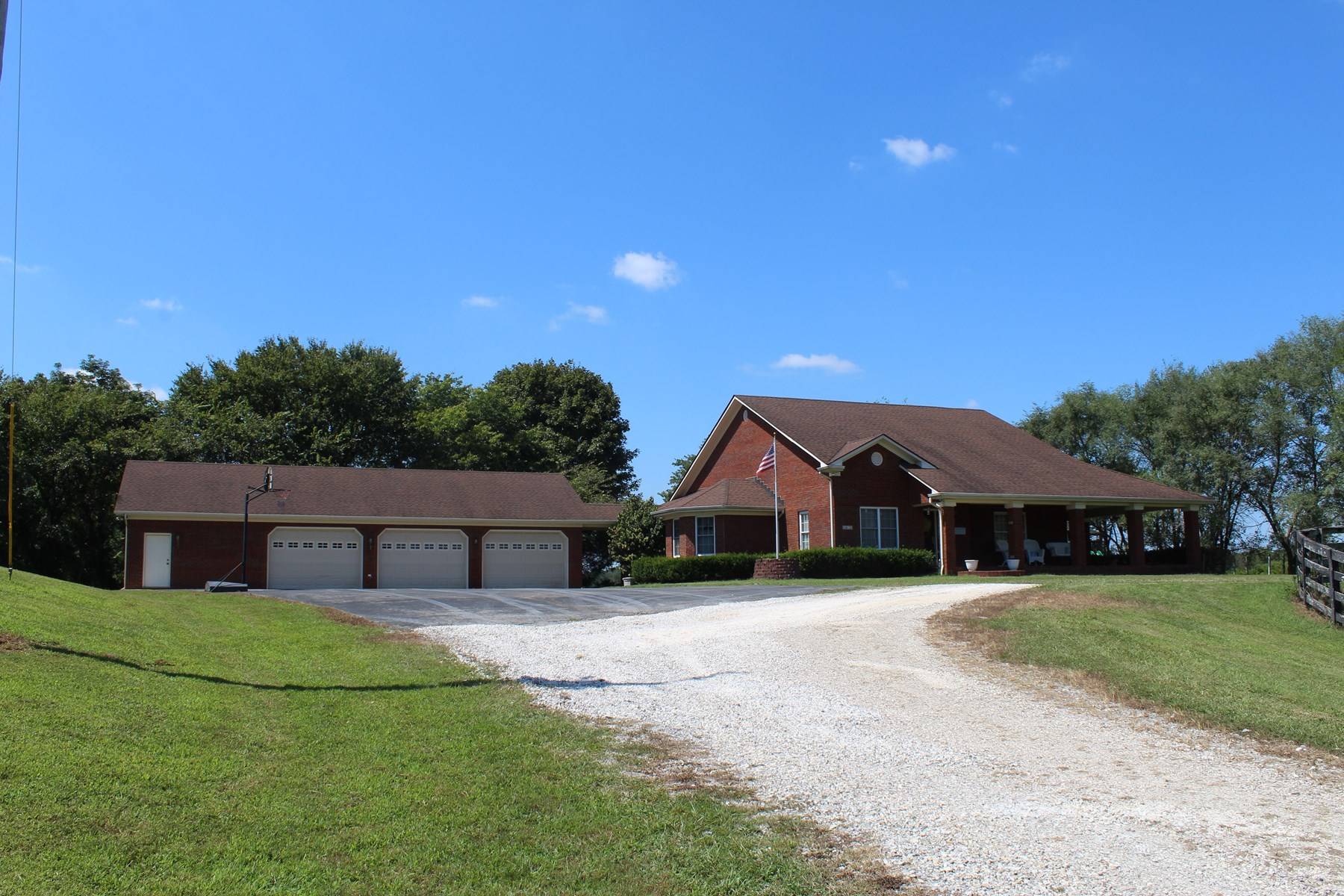 Beautiful Brick Home on 20 Acres Available in Warren Co. Ky. Offered in 4 Tracts