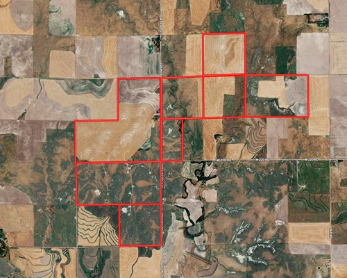 Crop and Grass Land For Sale in West Central Kansas
