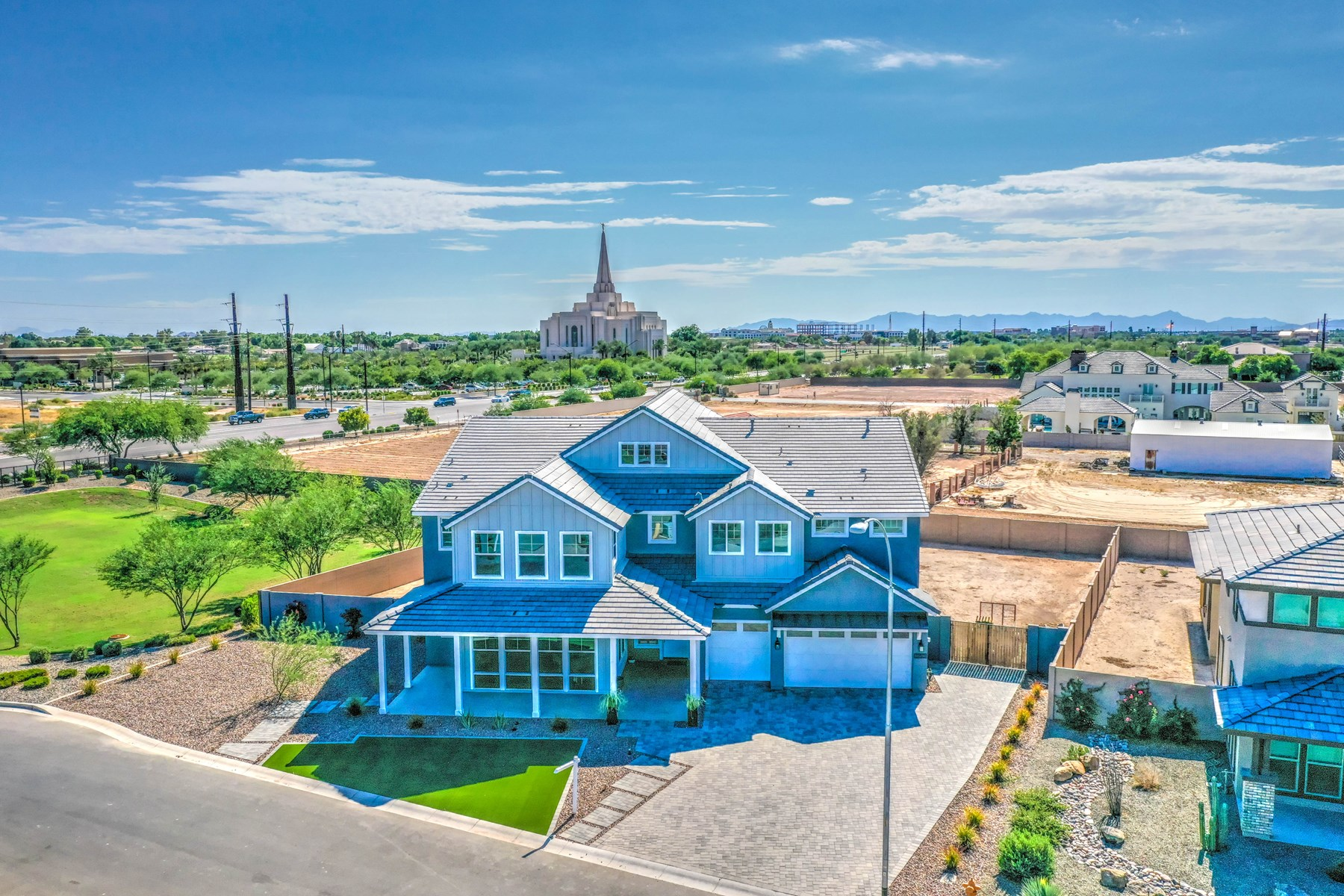 6 BED & 4 BATH ALMOST NEW HOME BY GILBERT AZ TEMPLE