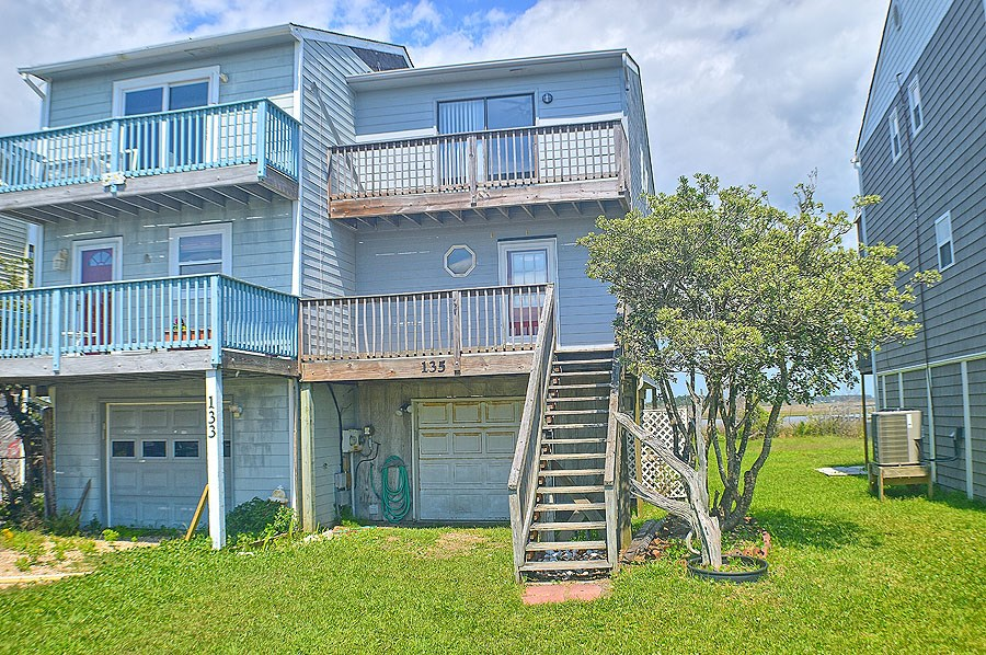 3 BR Waterfront Townhouse for Sale on North Topsail Beach