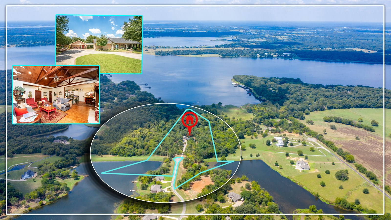 LAKE FORK WATERFRONT HOME ON ACREAGE EAST TEXAS BEST FISHING