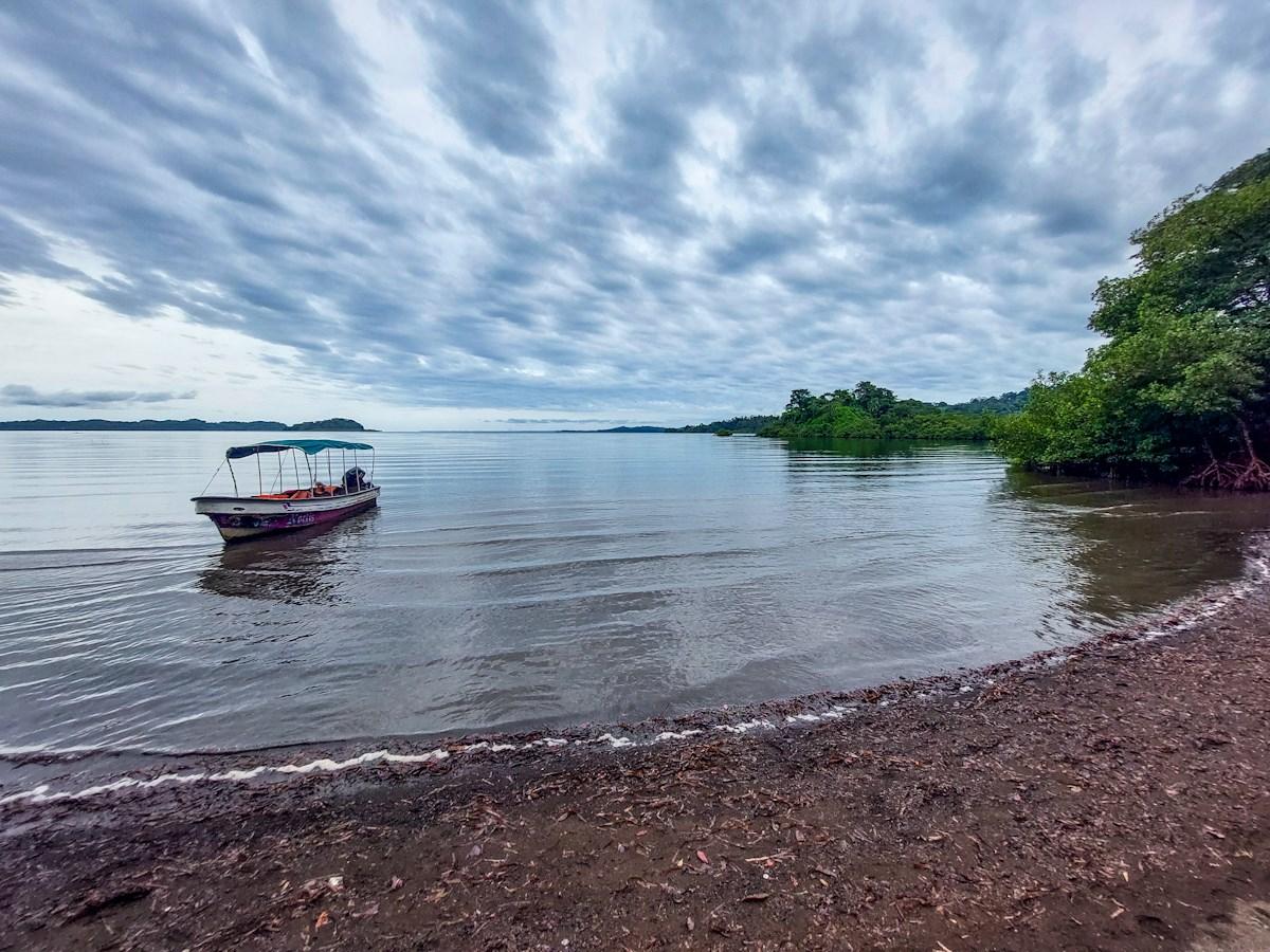Black Sand Beachfront on mainland Panama, Bocas del Toro