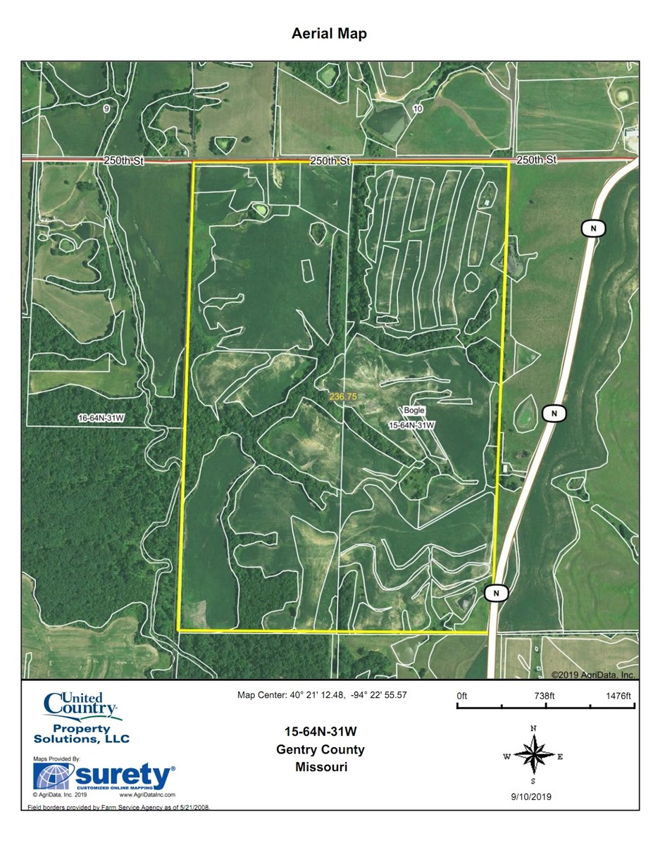 Missouri Row Crop Farm For Sale in Gentry County