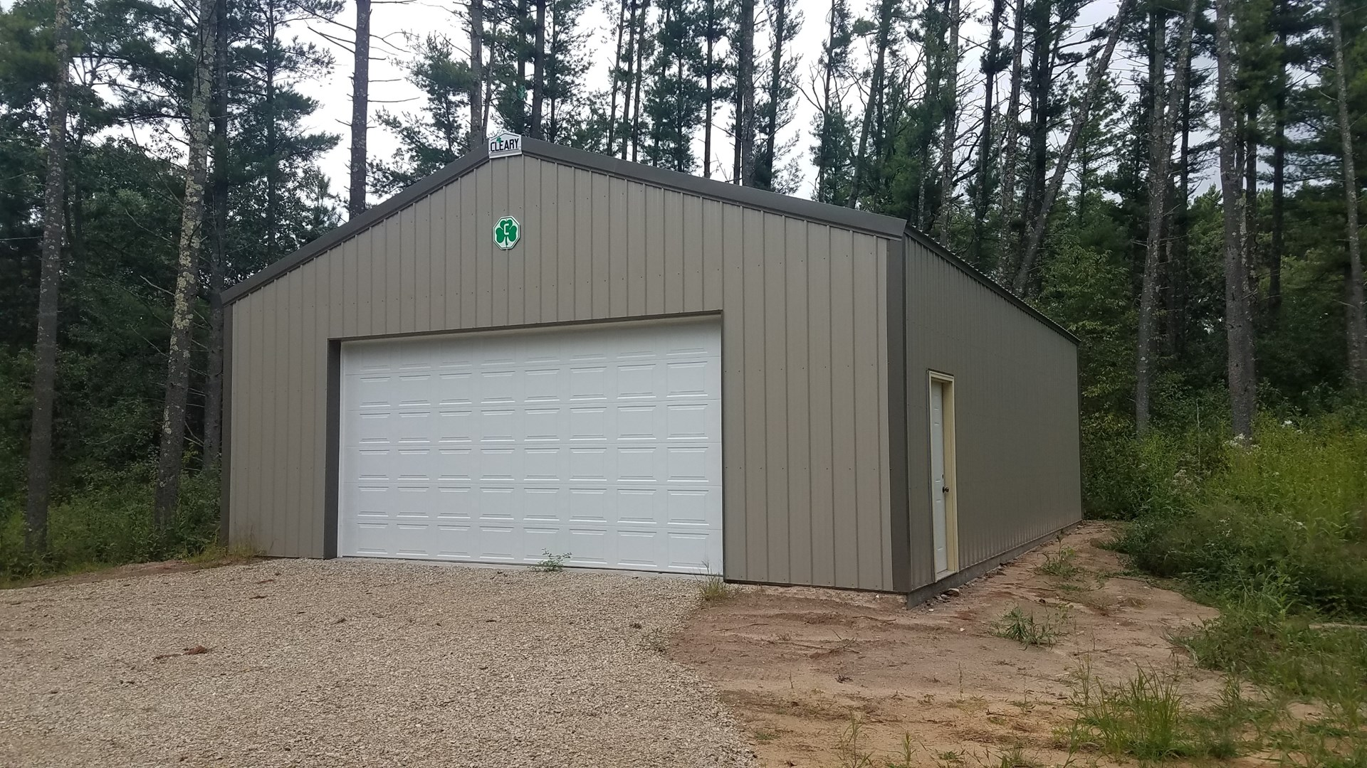Land with Brand New Steel Storage Shed For Sale
