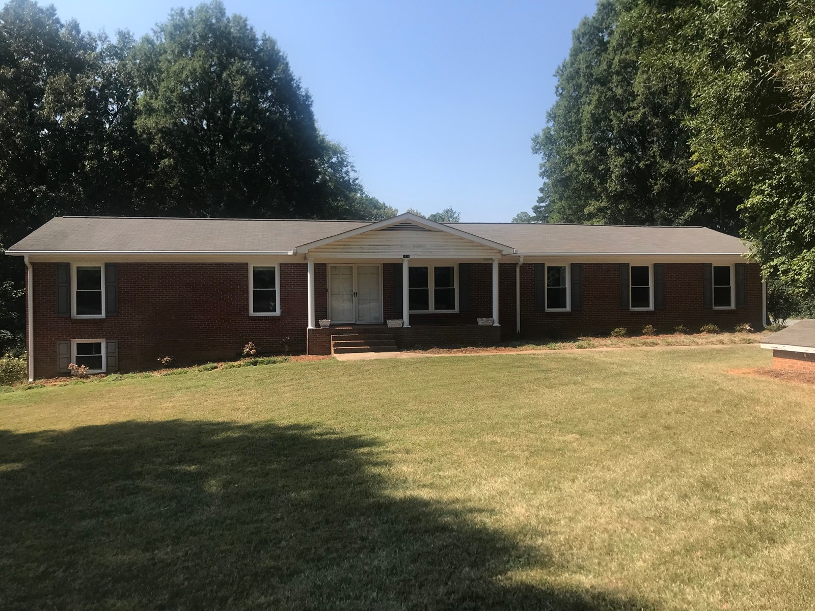 Brick Ranch With Full  Basement For Sale in Matthews NC