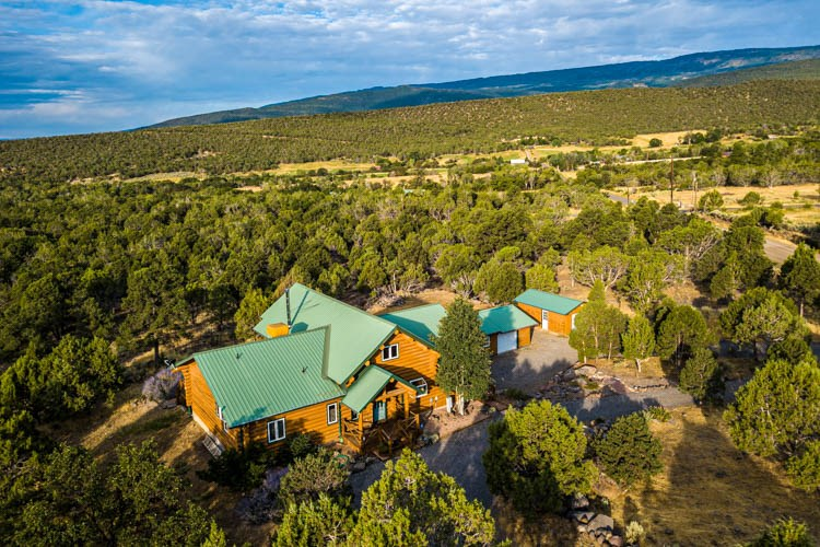 Western Colorado log home on 10 wooded acres