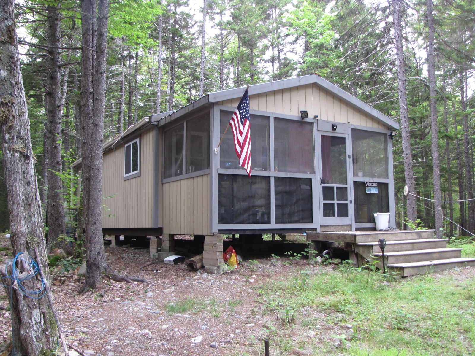 Solar Powered Camp for Sale in Washington County Maine