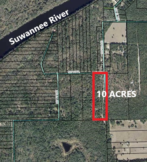 LAND FOR SALE - 10 ACRES BELL FLORIDA, GILCHRIST COUNTY