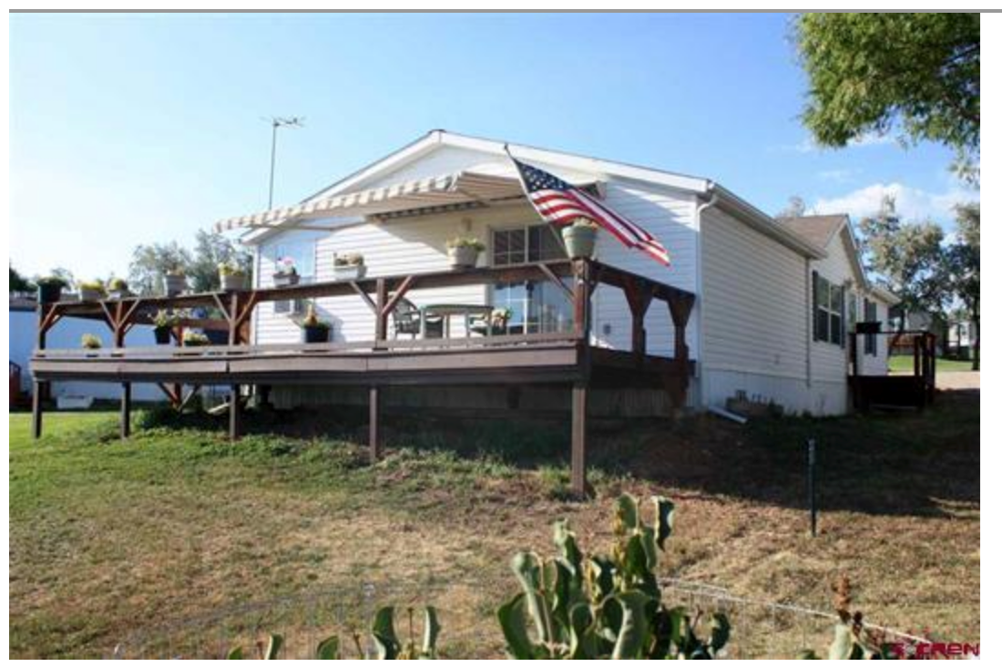 Double wide mobile home for sale in Dolores, Colorado