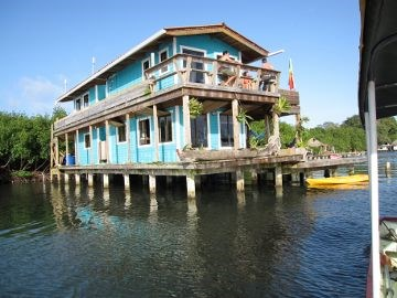 Bocas del Toro over the Sea Coastal Home in Panama