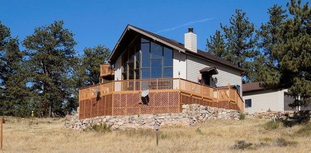 Northern Colorado Mountain Home Bordering National Forest