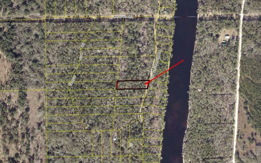 Wooded lot approximately 1.30 acres nearby Suwannee River