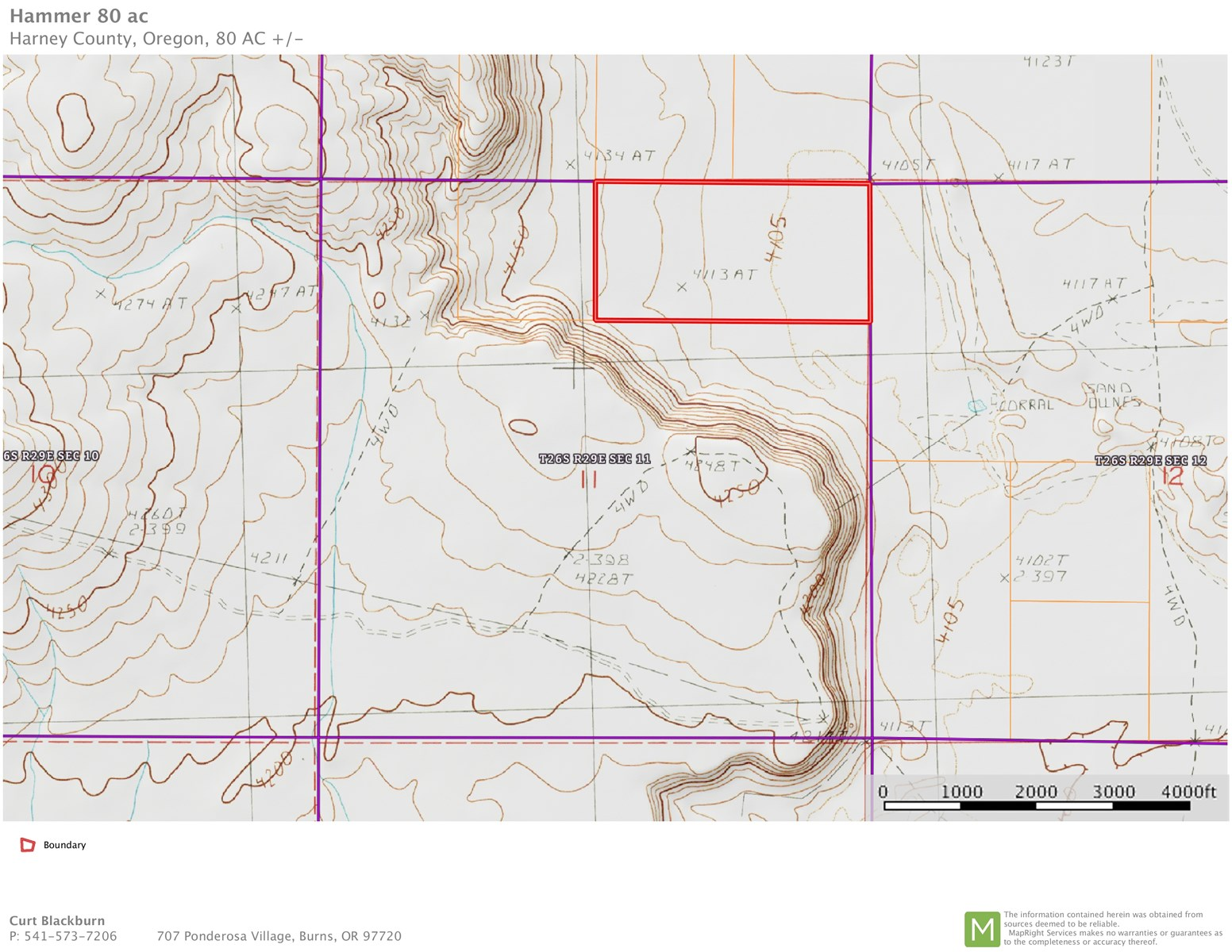 80 ACRES ADJACENT TO BLM