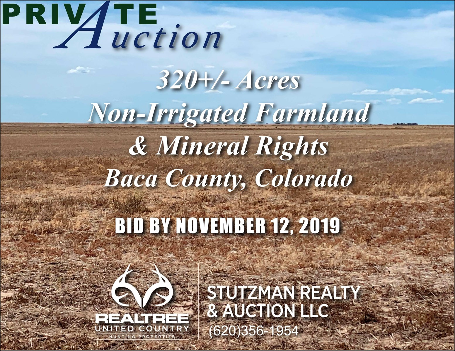 BACA COUNTY COLORADO 320+/-ACRES FARM/MINERAL RIGHTS PRIVATE AUCTION