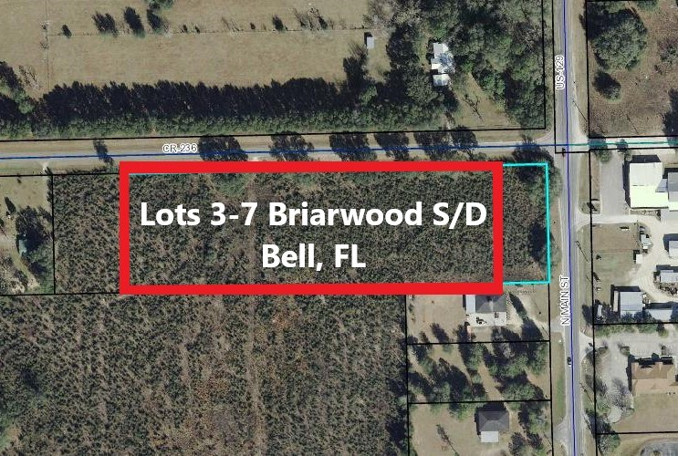 LOTS FOR SALE BELL GILCHRIST COUNTY FLORIDA