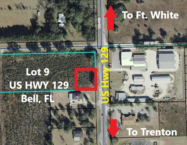 LANDS FOR SALE COMMERCIAL BELL FLORIDA, GILCHRIST COUNTY