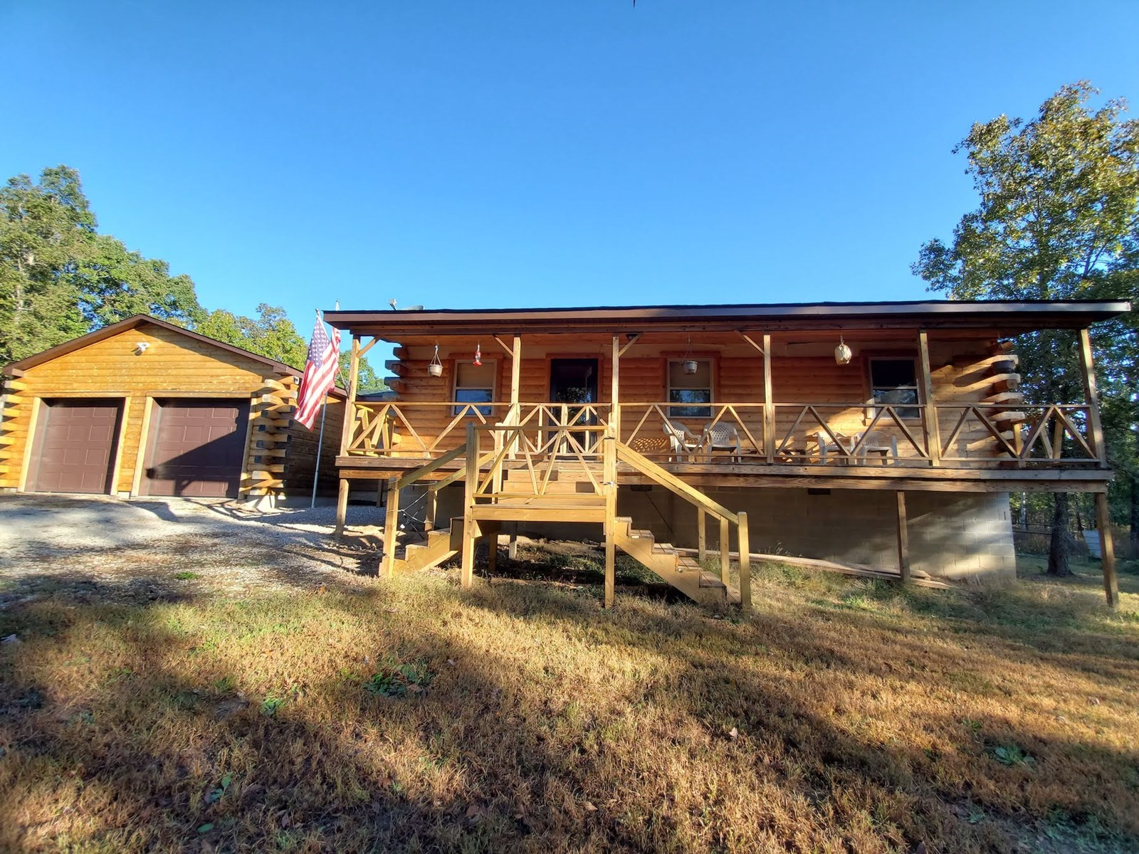Country Log Home for Sale in South Central Missouri Ozarks
