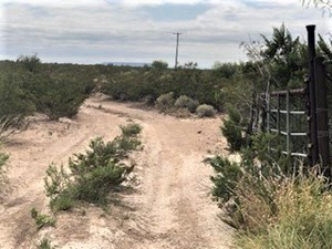 FENCED LAND RIGHT OUTSIDE FORT STOCKTON, TX FOR SALE
