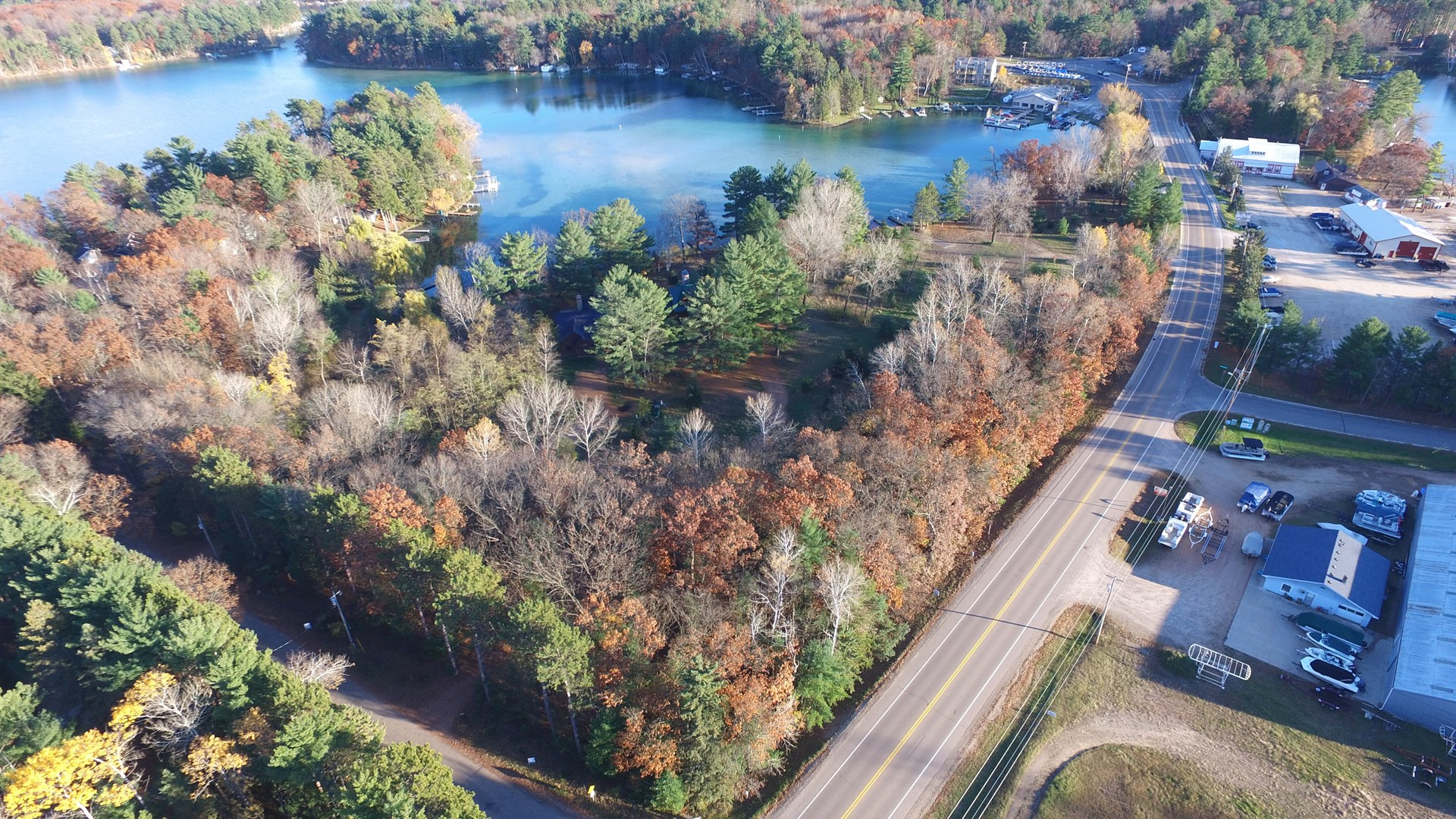 Chain O' Lakes Waterfront Building Site for sale Waupaca, WI