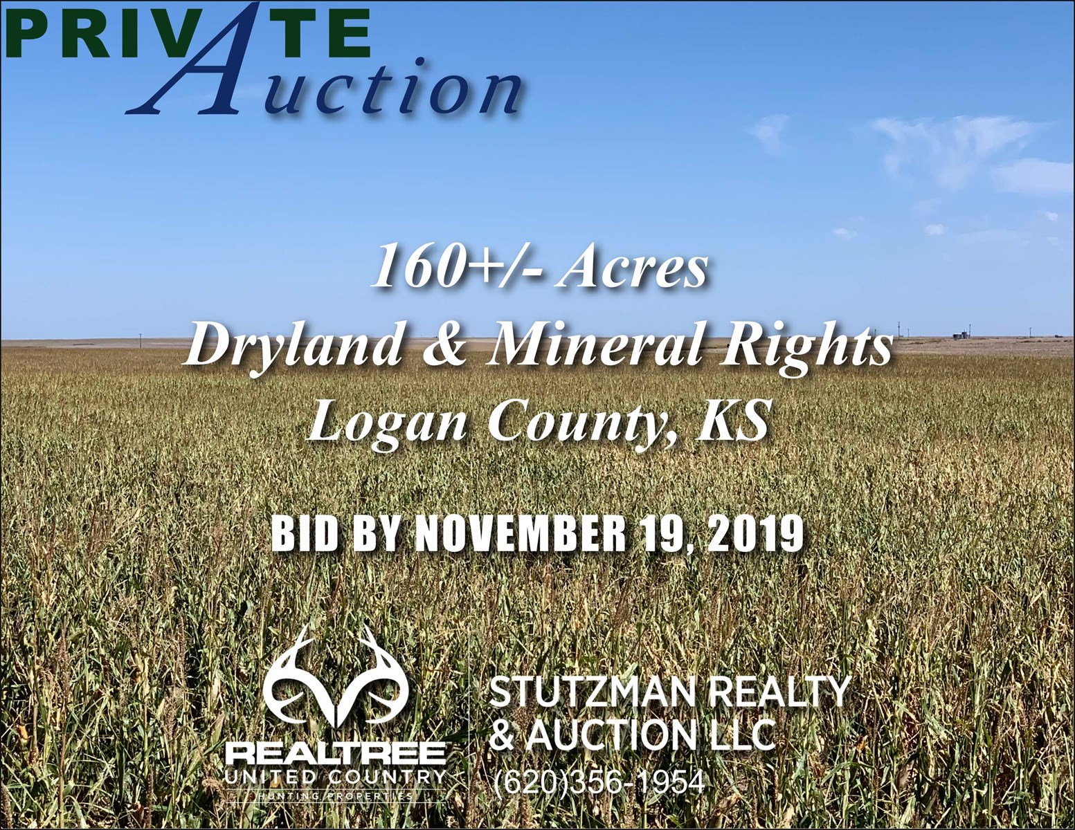LOGAN COUNTY, KS ~ 160+/- ACRES DRYLAND & MINERAL RIGHTS