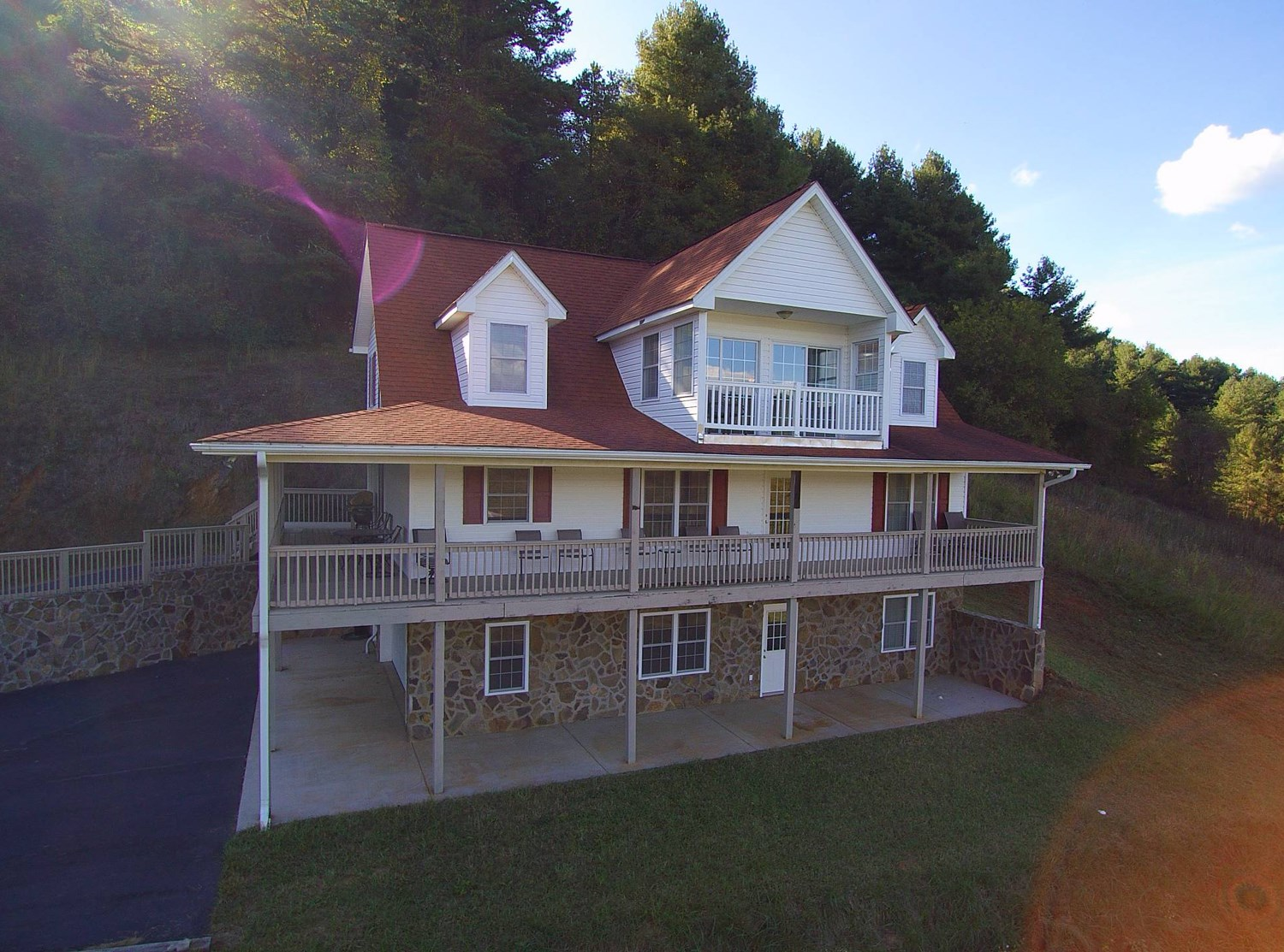 Mountain home, overlooking the New River in the Blue Ridge