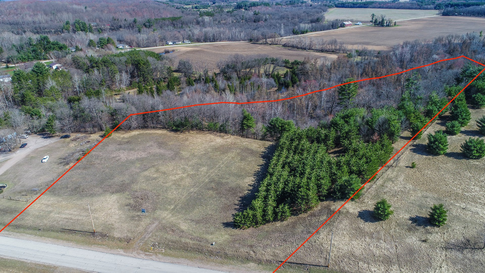 Commercial Land for Sale, Waupaca WI,  Central WI