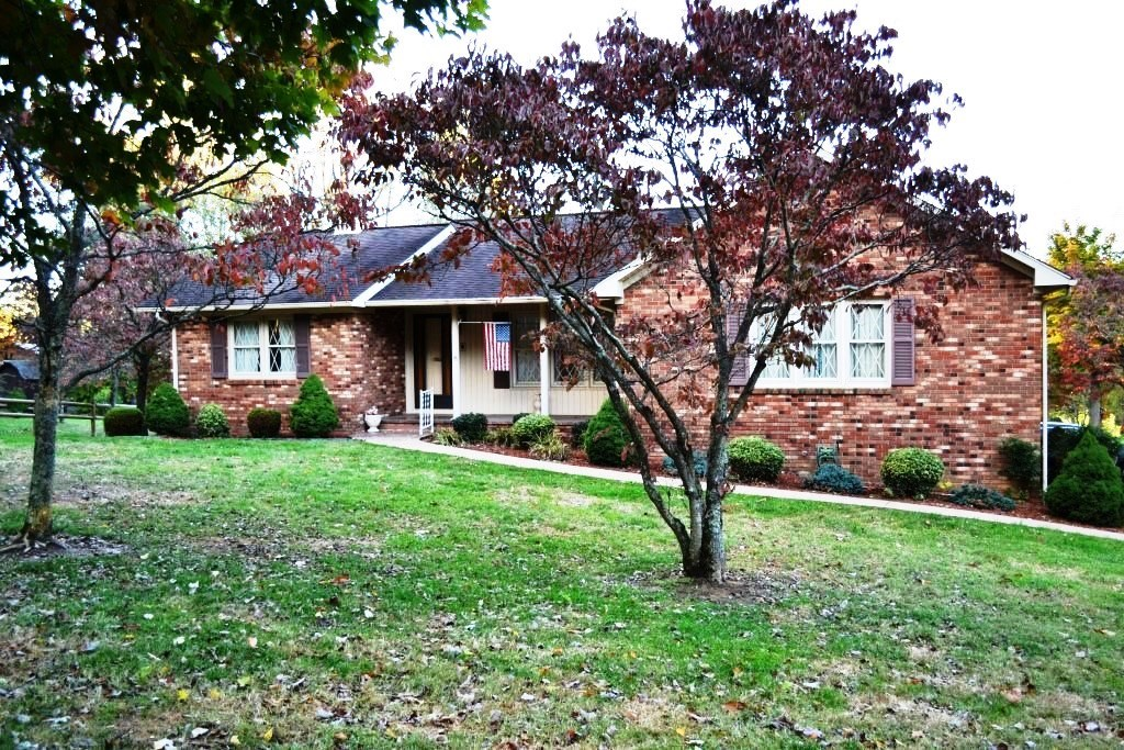 Single level brick house on corner lot in Wytheville, VA