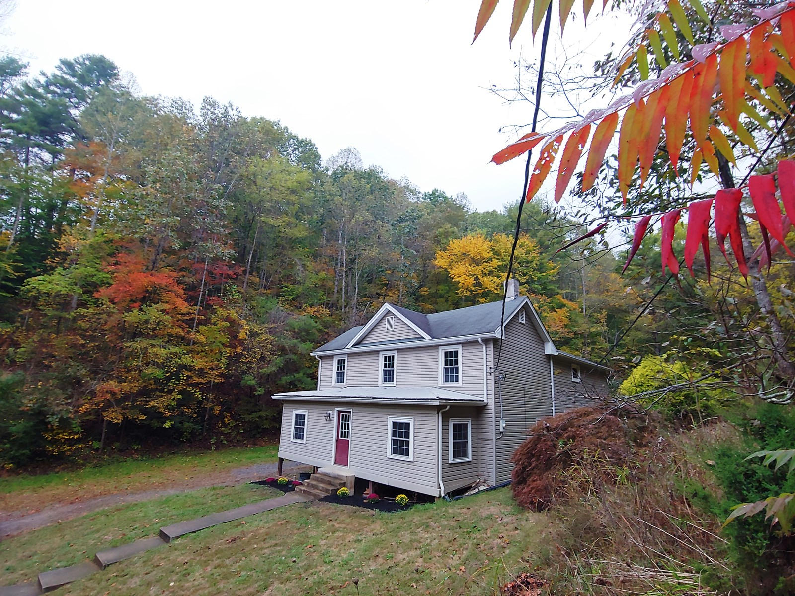 Farmhouse with Acreage for Sale in Shawsville, VA