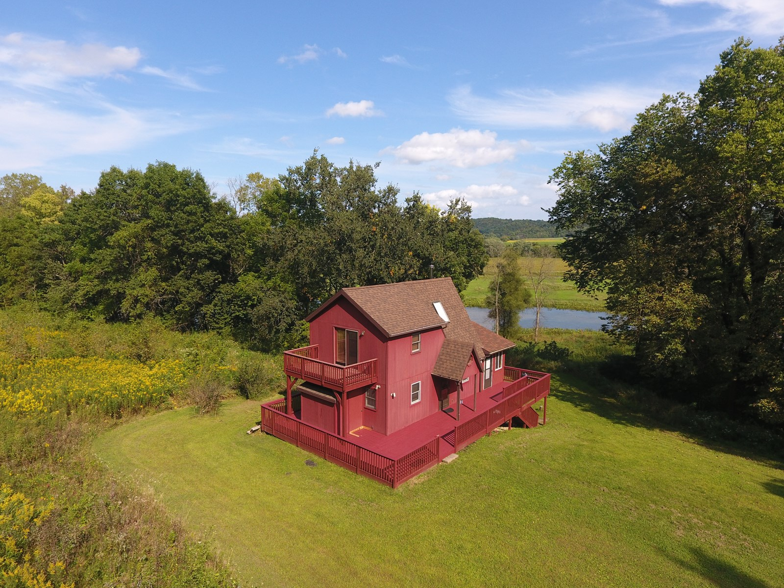 Country Home For Sale in SW Wisconsin With Lake Frontage