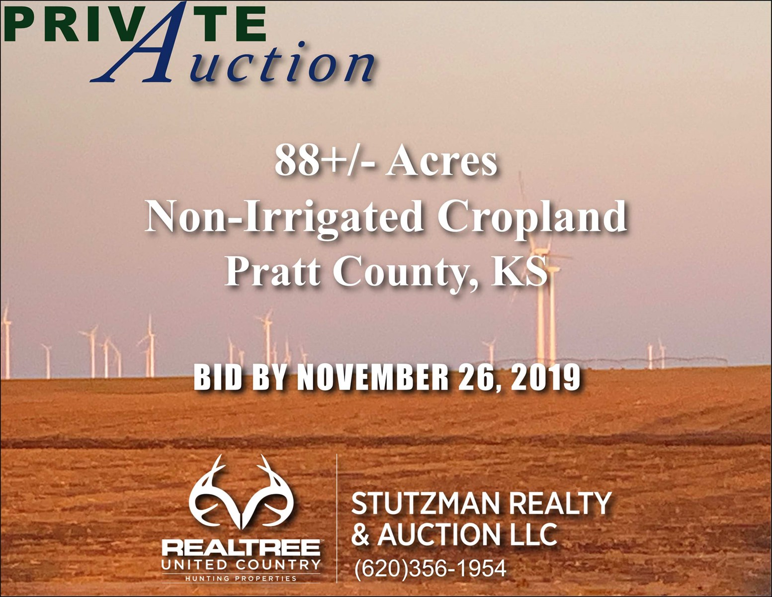 PRATT COUNTY KS 88+/- ACRES ~ NON-IRRIGATED CROPLAND ~ PRIVATE AUCTION