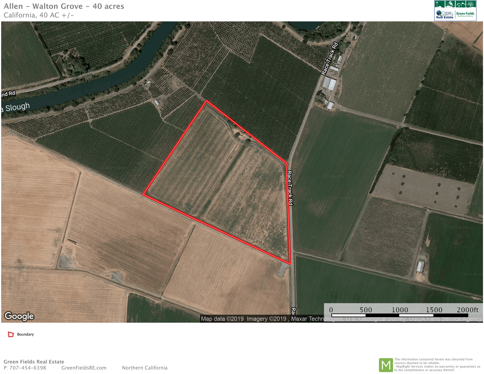 Northern California Farm Land For Sale - Sacramento County