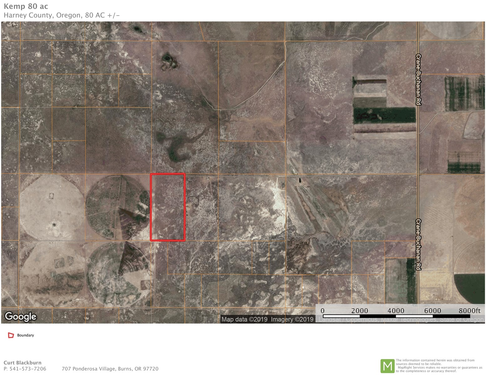 80 ACRES - CRANE BUCHANAN RD