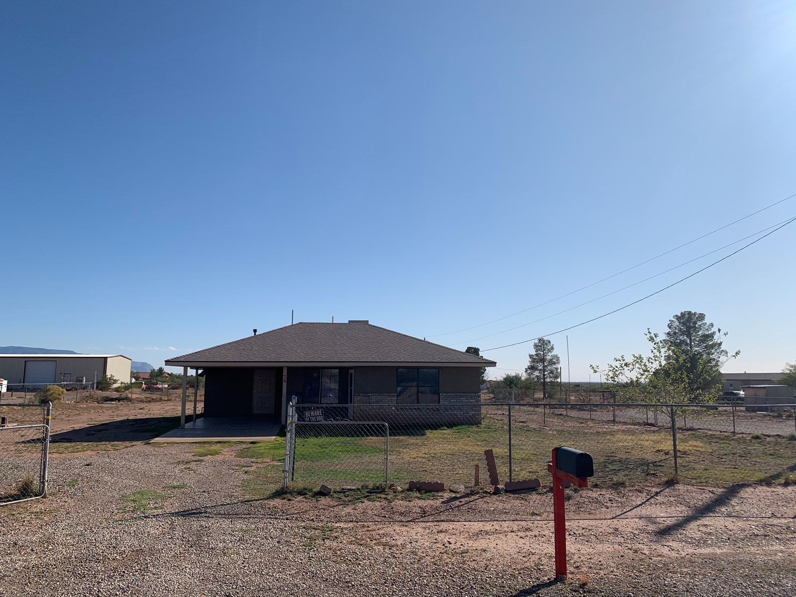 Four bedroom home on fully fenced acre in Tularosa NM