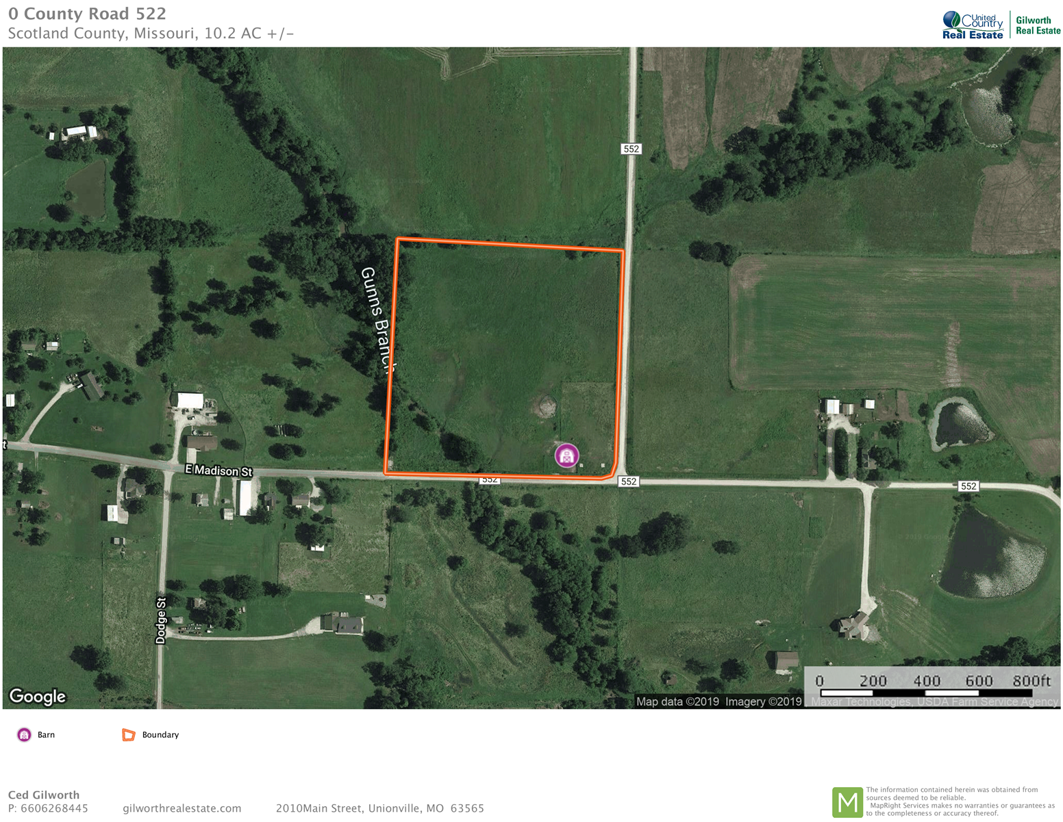10 Acres of Tillable Land For Sale in Memphis, MO