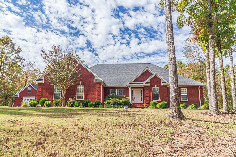 Custom 4 BR Brick with Detached Garage on over 4 Acres