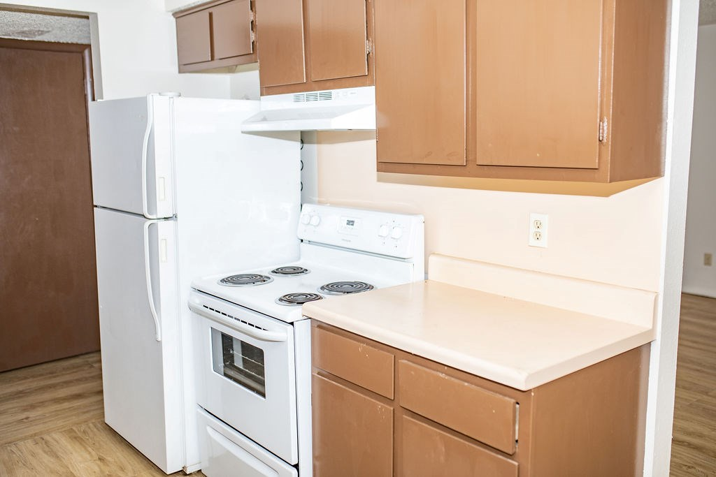 Remodeled kitchen with appliances