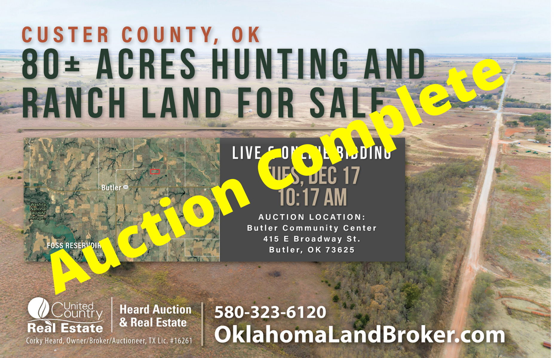Hunting and Ranch Land for Sale, Custer County OK