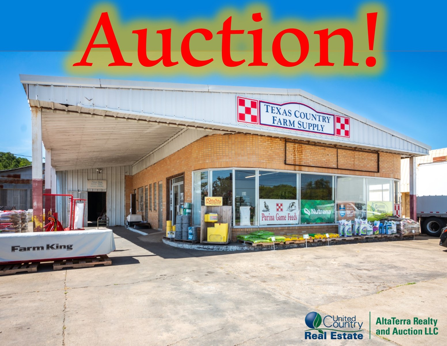 Sealed Bid Auction Commercial Business Mount Vernon Texas