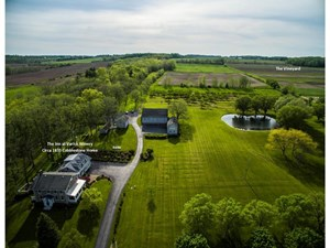UPSTATE NY FARM FOR SALE WITH LARGE HOME ON CAYUGA LAKE