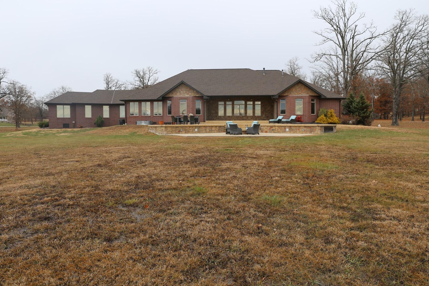 Contemporary Custom Brick Home Arrowhead Lake West Plains MO