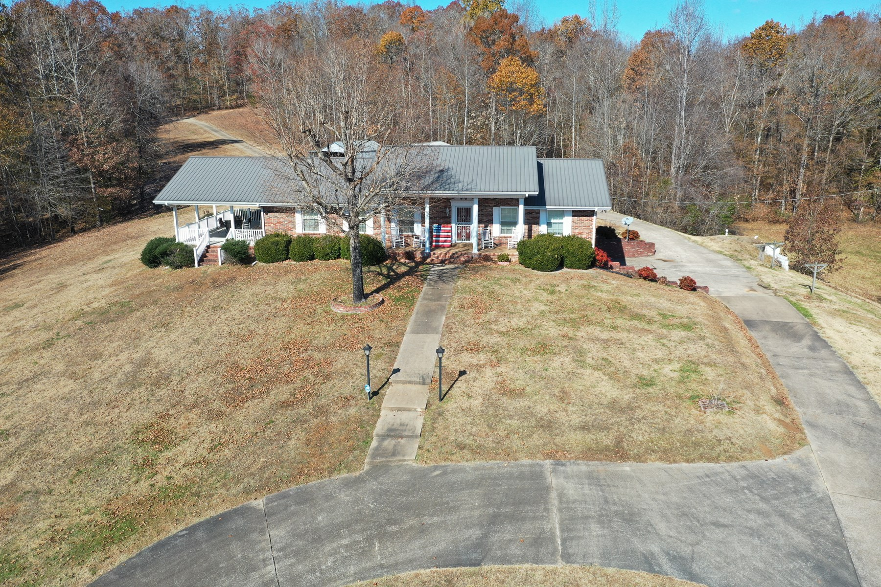 Brick Country Home For Sale with basement and 14.2 acres!